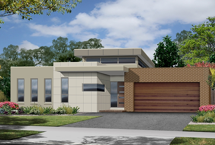 Single Storey Floor Plans on Narrow 3 Bedroom Townhouse Plan