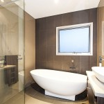 Modern bathroom ideas for custom built home in Maribyrnong, Melbourne