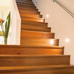 Staircase | Timber with Concealed Stringer | Plaster Wall Balustrade