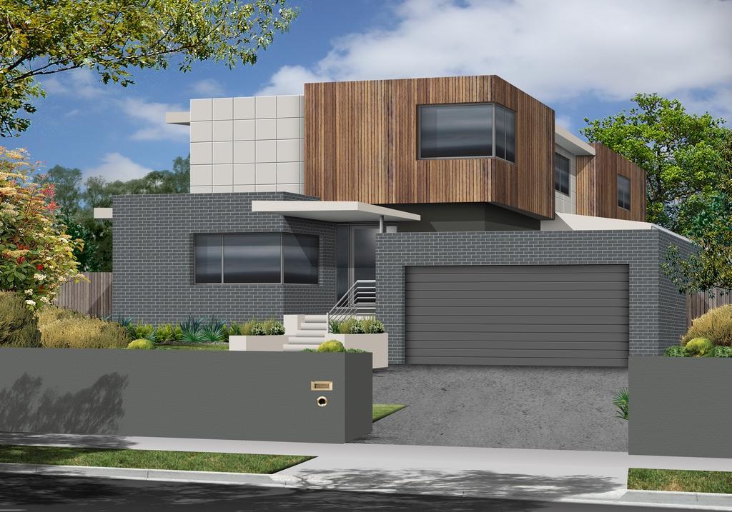 The Basalt   Custom built home for Sloping Block