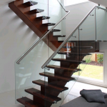 Staircase | Timber Centre Spine | Glass Balustrades