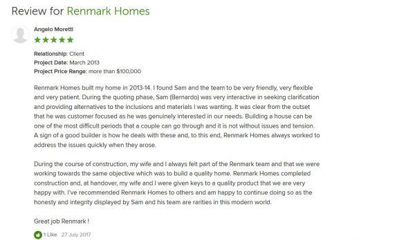 melbourne builder reviews