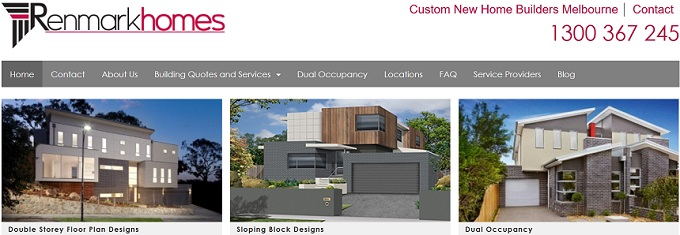 Custom New Home Builders Melbourne. Call 1300 367 245