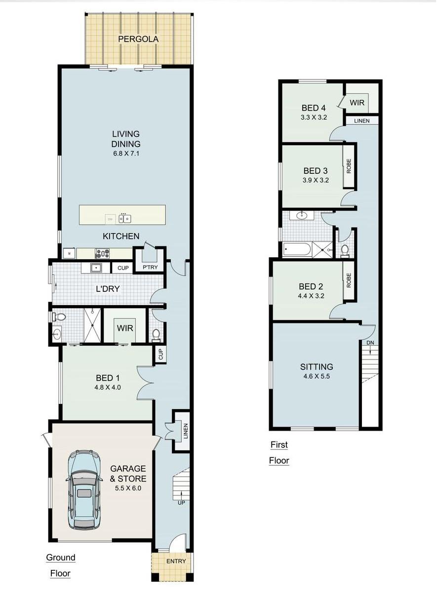 Double Storey Dual Occupancy Floor Plans House Storey