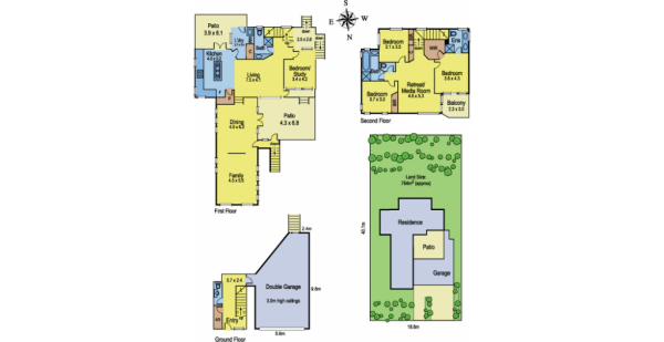 Multi-storey House Floor Plans