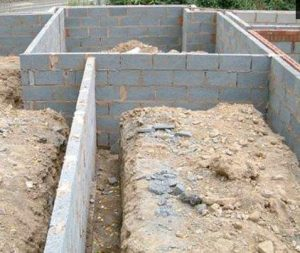 House Foundations Footing